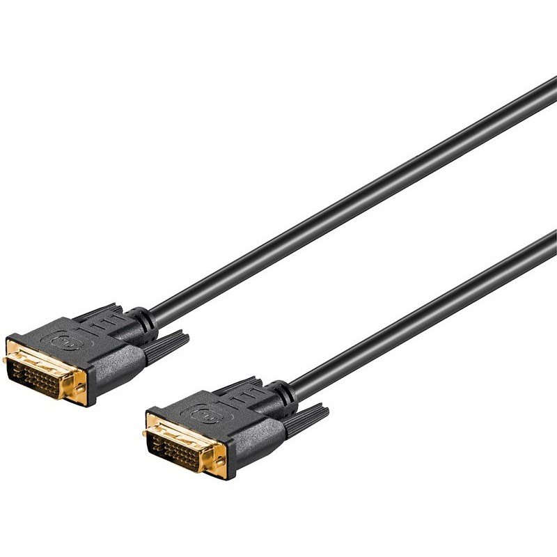 Conexión DVI-I (24+5) macho - macho 2 mts