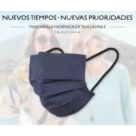 MASCARILLA HIGIENICA DE TELA LAVABLE ADULTO