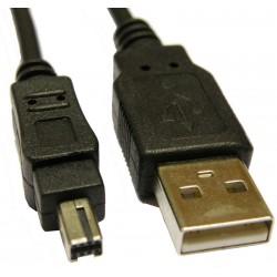 Conexión USB-A 2.0 Macho a MINOLTA 8 pin  Macho