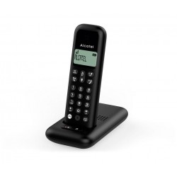 Teléfono inalámbrico DECT, negro
