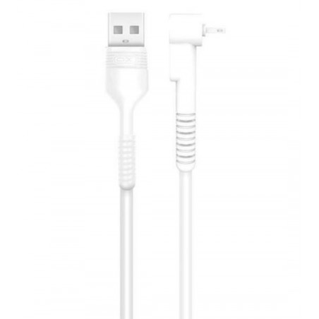 Cable Acodado Lightning a USB Blanco 1M