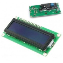 MODULO DISPLAY LCD 2X16 COLOR AZUL + MÓDULO I2C