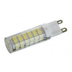 Bombilla de LED G9, 230 VAC. 6W LUZ  CÁLIDA