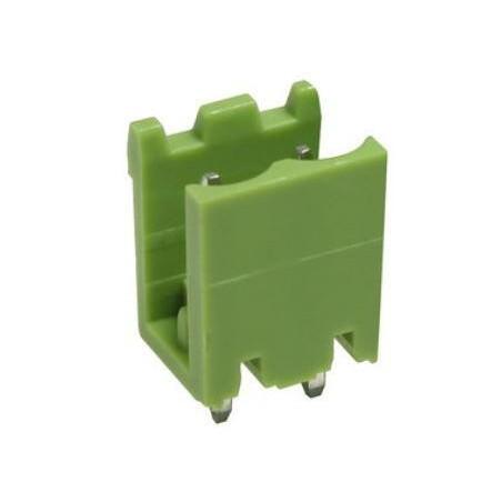Conector macho 2 pines 5,08mm circuito impreso.