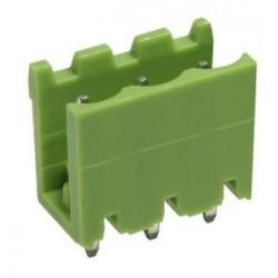 Conector macho 3 pines 5,08mm circuito impreso.