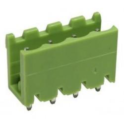 Conector macho 4 pines 5,08mm circuito impreso.