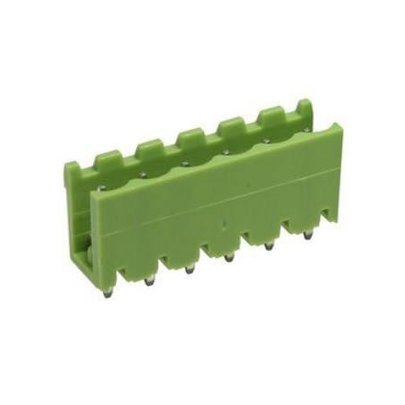 Conector macho 6 pines 5,08mm circuito impreso.