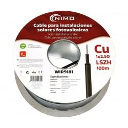 Cable conexiones fotovoltaicas negro1x2.5mm² 100mt
