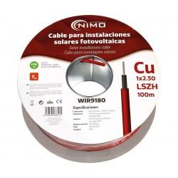 Cable conexiones fotovoltaicas rojo 1x2.5mm² 100mt