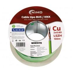 WIR9170 Cable tipo BUS / KNX blindado, 100m