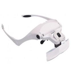 Lupa de cabeza ergonómica con LED varios aumentos