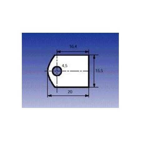 Aislante de mica TOP-3 20x15,5mm