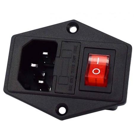 Base de conexión IEC 320 empotrable 10A 250V