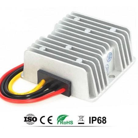 CONVERTIDOR STEP-DOW 24V A 12V, 15AMP., 180W, IP68