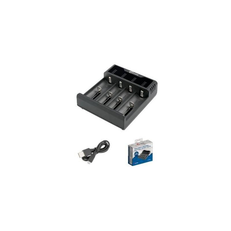 Cargador baterías cilíndricas de Ion-Litio/NI-MH