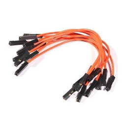 10 cables con terminal hembra 100mm