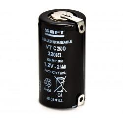 Batería recargable 1,2V 2500mA Ni-Cd RC14