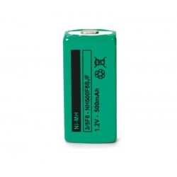 Batería recargable 1,2V 550mA NI-MH HFC1U, 3/5F6