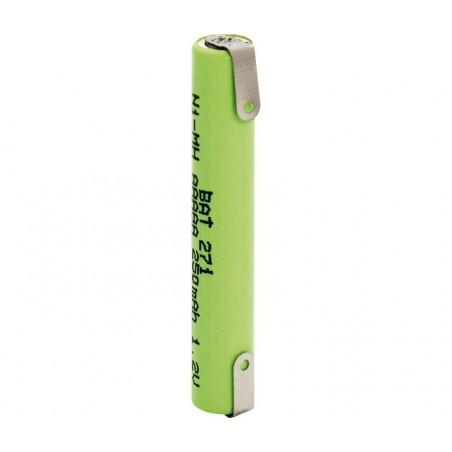 Batería recargable 1,2V 250mA NI-MH AAAA