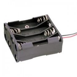 Portapilas para 8 pilas de 1'5V (12V) AAA R03