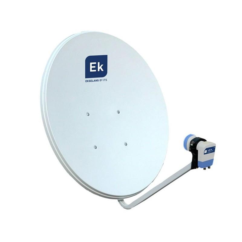 Antena parabólica 60cm + LNB tipo offset.