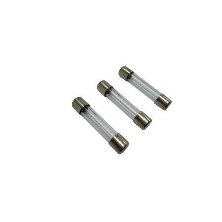 Fusible de cristal 6,3A  6 x 32   10 unidades