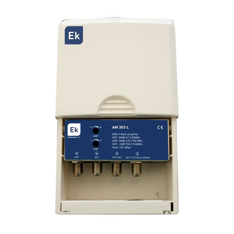 Amplificador de mástil TV LTE + SAT
