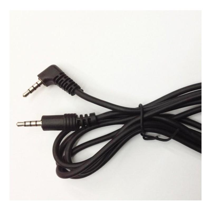 Conexión jack 3,5mm de 4 contactos M-M 3 mts.