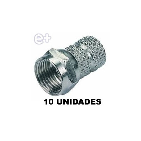 CONECTOR F MACHO 10 UNIDADES