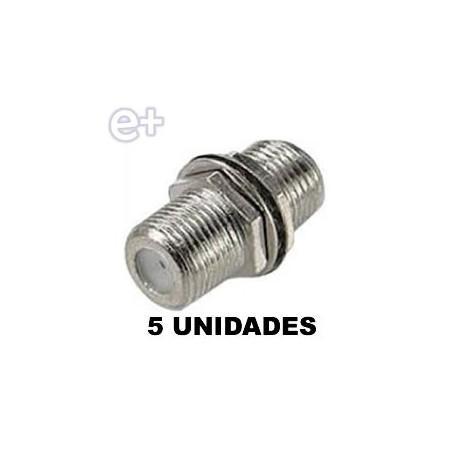 CONECTOR F DOBLE HEMBRA 5 UNIDADES