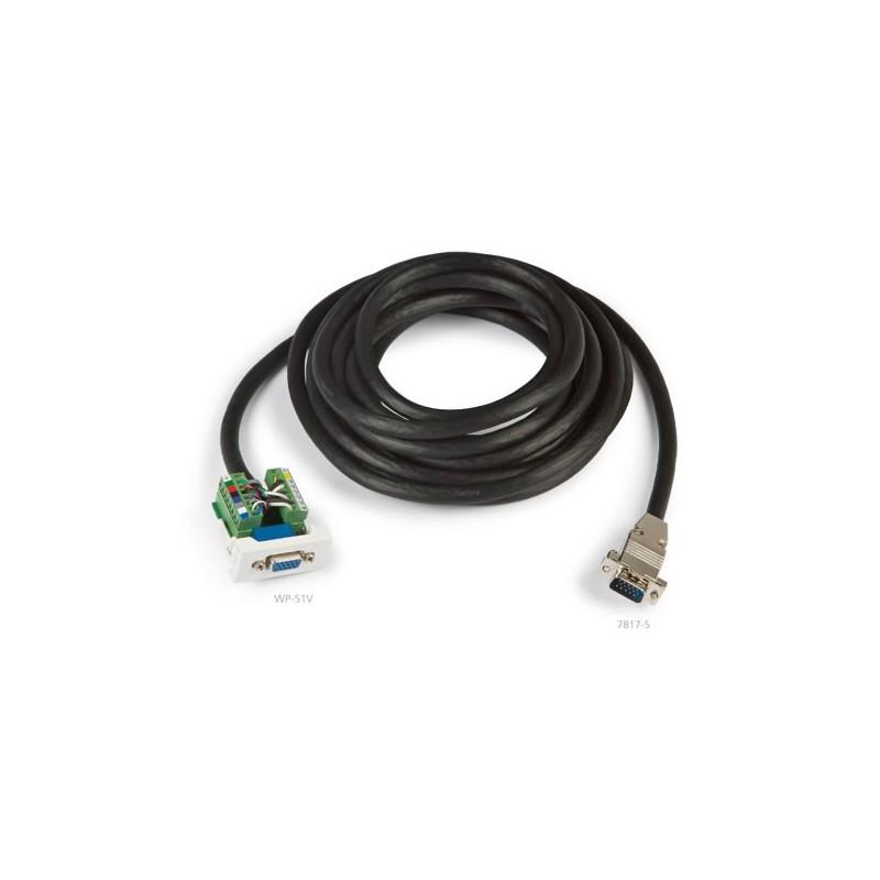 Panel de conexión VGA 10m enchufable con cable
