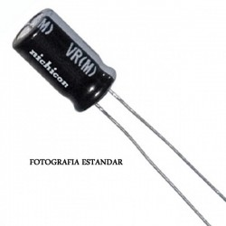 CONDENSADOR ELECTROLITICO 100uF/25V 105º