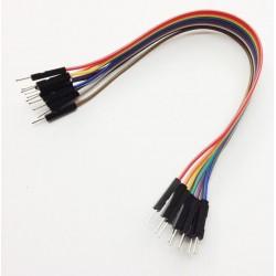 Juego 10 cables macho-macho 200mm varios colores