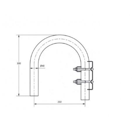 Soporte de pared galvanizado 40mm