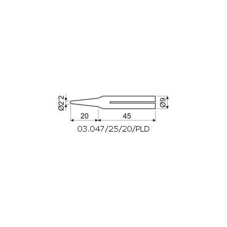 PUNTA LARGA DURACION 2mm