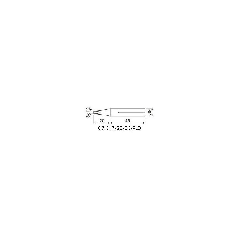 PUNTA LARGA DURACION 3 X 1,2mm