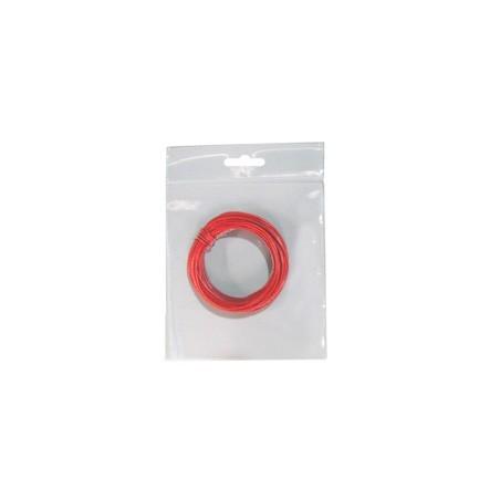Hilo conex. 0,28 rojo 10 mts