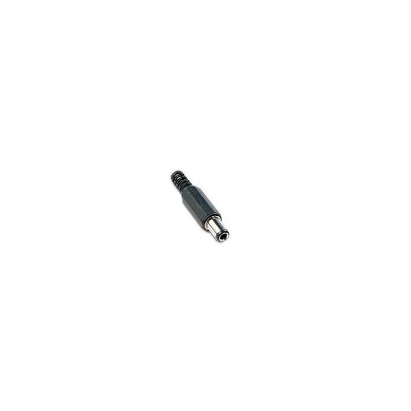 CONECTOR JACK ALIMENTACION MACHO 6,3mm x 3,1mm