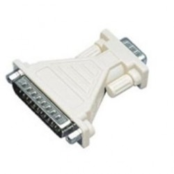 ADAPTADOR SUB D 9 PIN  MACHO - 25 PIN MACHO