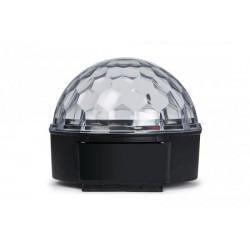 Semiesfera con 6 LED RGB de 3 W con rayos móvil