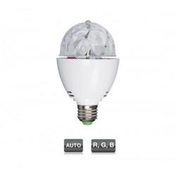 Mini semiesfera LED con 3 LED R, G, B de 1 W