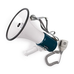 Megáfono compacto con sirena y micro