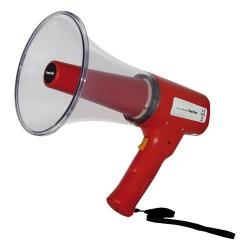 Megáfono compacto con sirena y difusor transparent