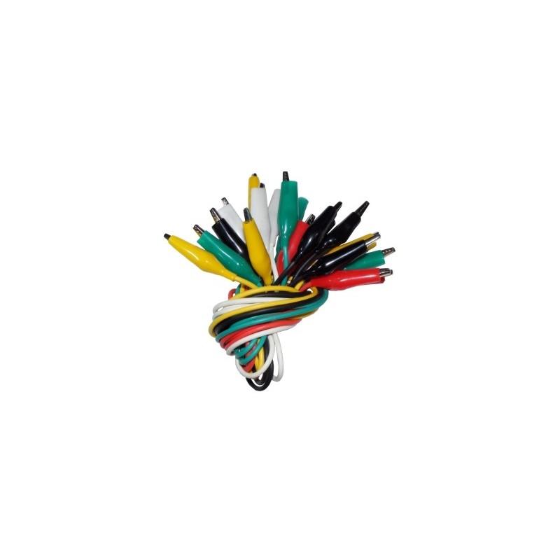 C-6091 Juego 10 cables con pinzas de cocodrilo