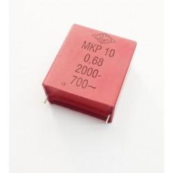 CONDENSADOR MKP 680nF 2000V RASTER 36,5mm
