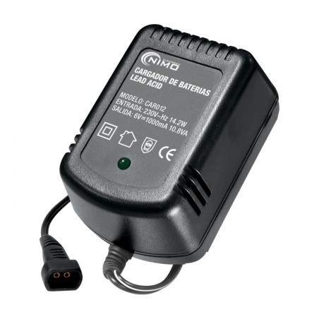 Cargador Baterías de Plomo 6V/1A