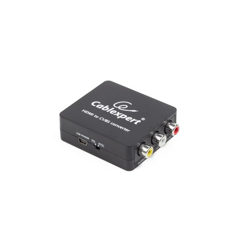 Conversor de HDMI a video compuesto y audio.
