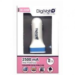 Cargador 12v 2 USB 2500mA DIGIVOLT