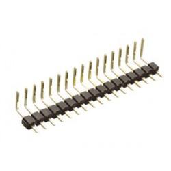 REGLETA PIN 2,54mm MACHO ACODADO 40 CONTACTOS