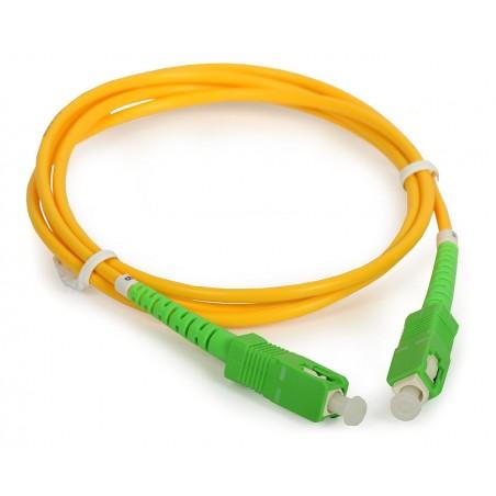 Conexion fibra óptica SCAPC/SCAPC 15mts